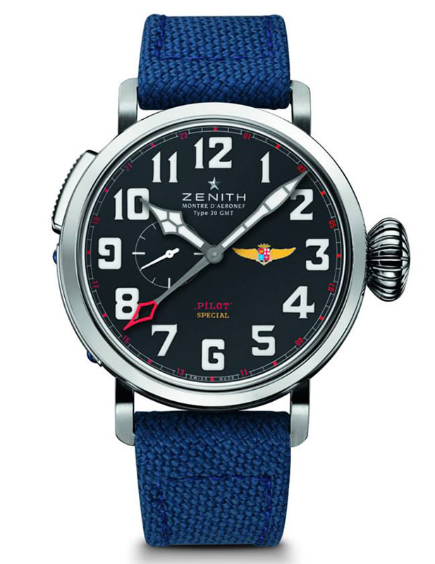 Zenith Pilot Montre d'Aeronef Type 20 Tribute to Aviazione Navale Watch Front