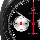Autodromo Prototipo Chronograph Black Dial Watch Detail