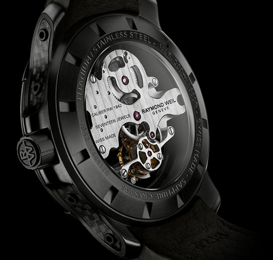 Raymond Weil Nabucco Cello Tourbillon Watch Back