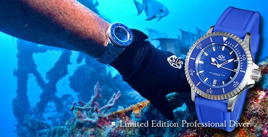 "RGM Series 2 ""Blue Diver"" Dive Watch"