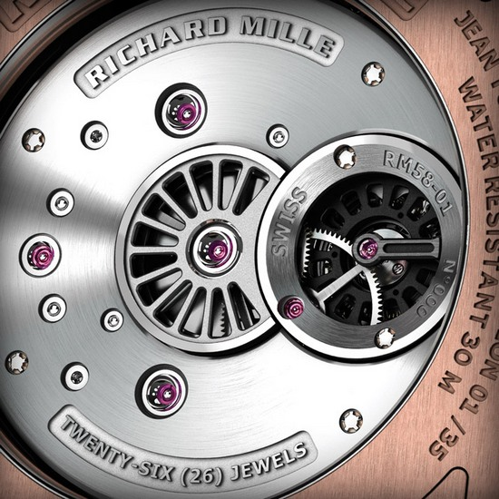 Richard Mille RM 058-01 Jean Todt Watch Back Detail