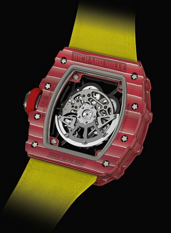 Richard Mille RM 35-02 Rafael Nadal Watch Back