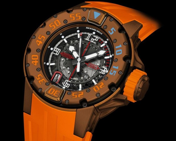 Richard Mille RM028 Brown PVD Dive Watch