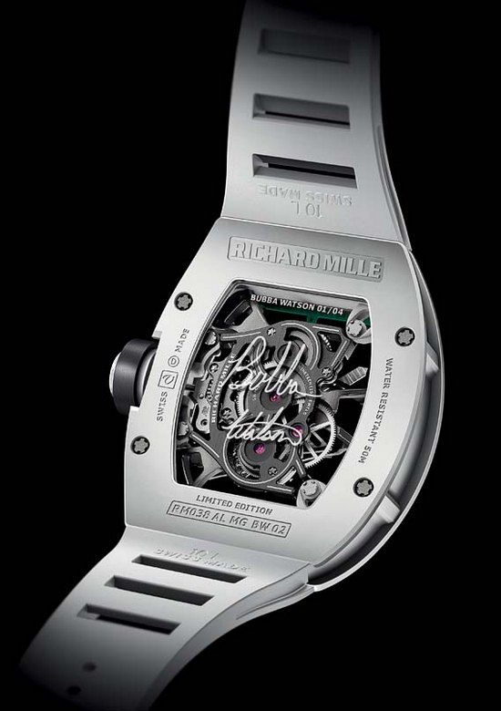 Richard Mille RM038 Bubba Watson Tourbillon Victory Watch Caseback