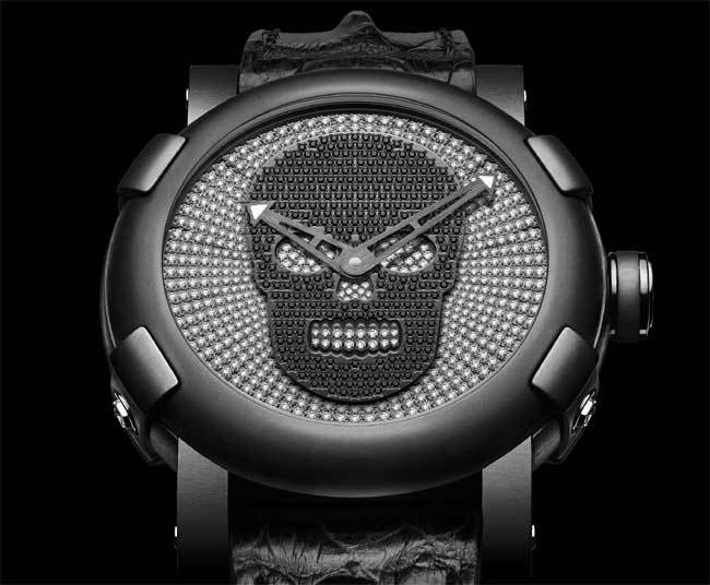 "RJ-Romain Jerome ""Día de los Muertos"" Black And Silver Dial Watch"