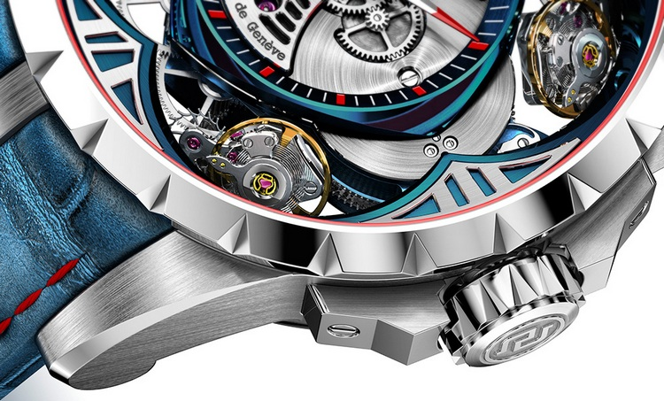 Roger Dubuis Excalibur Quatuor Cobalt Micro-Melt Watch Crown