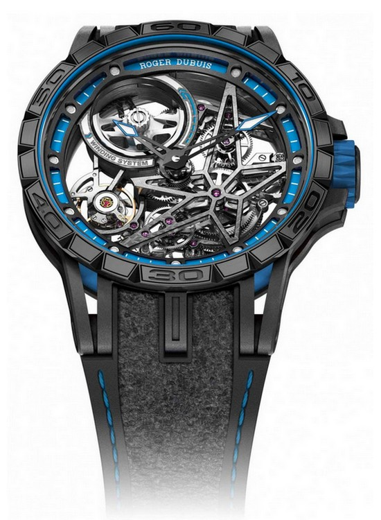 Roger Dubuis Excalibur Spider Pirelli Double Flying Tourbillon Watch