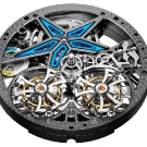 Roger Dubuis Excalibur Spider Pirelli Double Flying Tourbillon Watch Inside