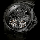 Roger Dubuis Excalibur Skeleton Double Flying Tourbillon in Black Titanium Watch