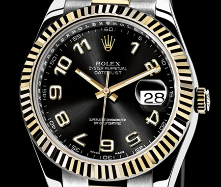 NEW Rolex DateJust II 41mm Large Mens White Stick Dial Steel 116334