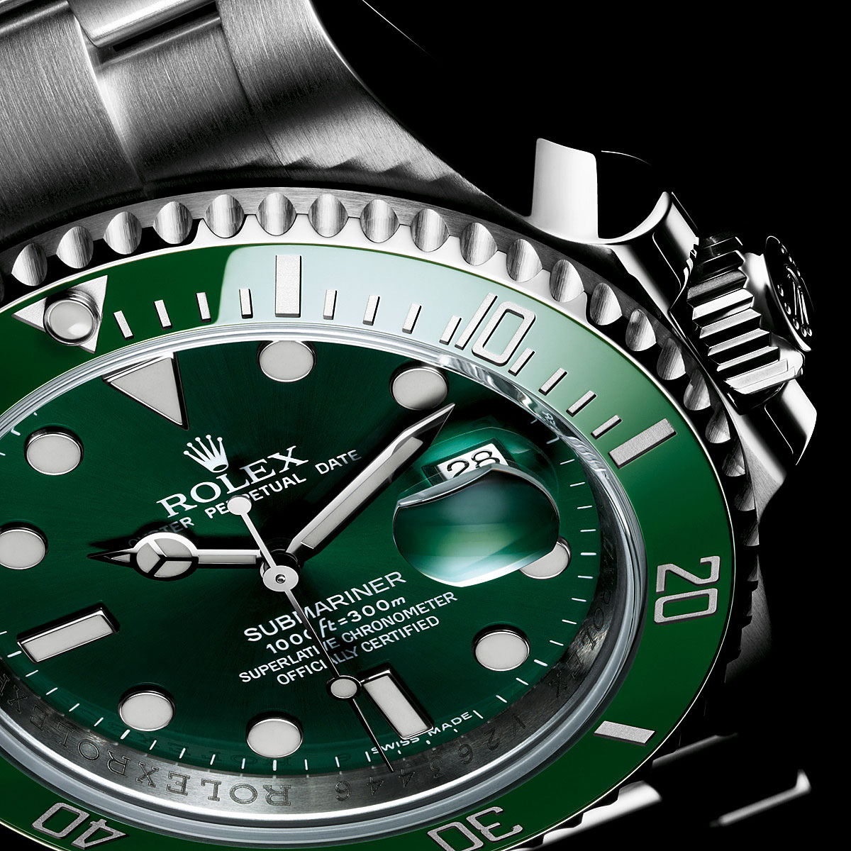 Rolex Oyster Perpetual Submariner Diving Watch Green