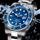 Rolex Oyster Perpetual Submariner Diving Watch Blue