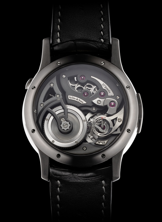 Romain Gauthier Logical One Natural Titanium Black Enamel Dial Watch Back