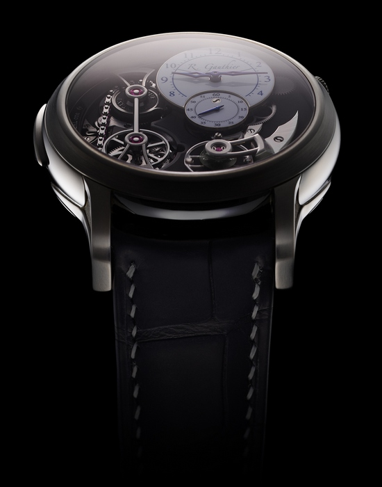 Romain Gauthier Logical One Natural Titanium White Enamel Dial Watch