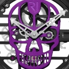 Romain Jerome Skylab 48 Speed Metal Skull Watch Detail