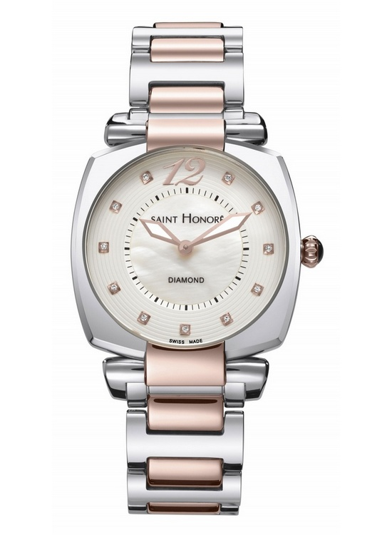Saint Honore Euphoria Pink PVD Steel Watch Front