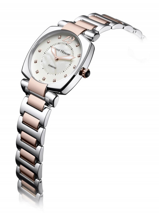 Saint Honore Euphoria Pink PVD Steel Watch Side