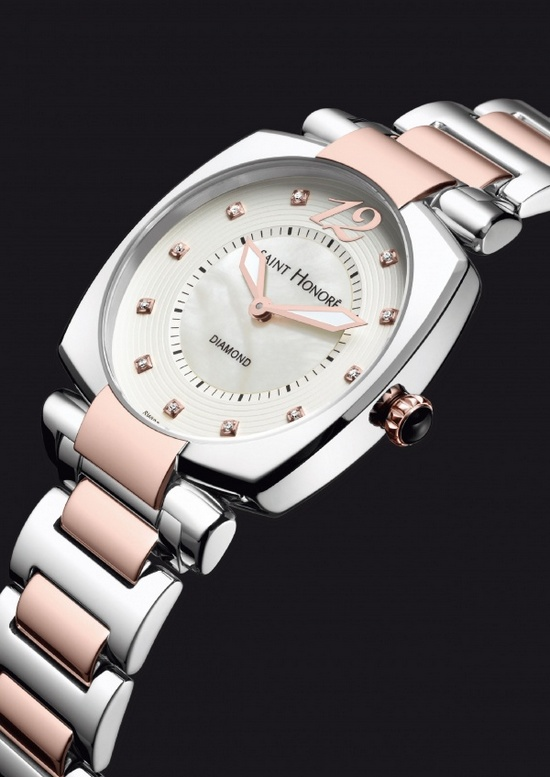 Saint Honore Euphoria Pink PVD Steel Watch
