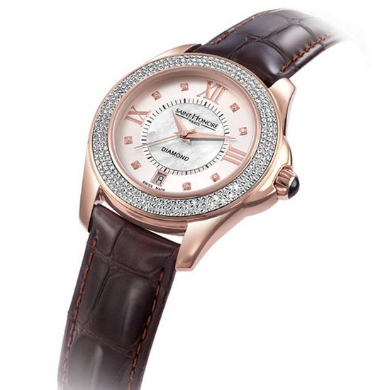 Saint Honore Royal Coloseo Rose Gold Watch