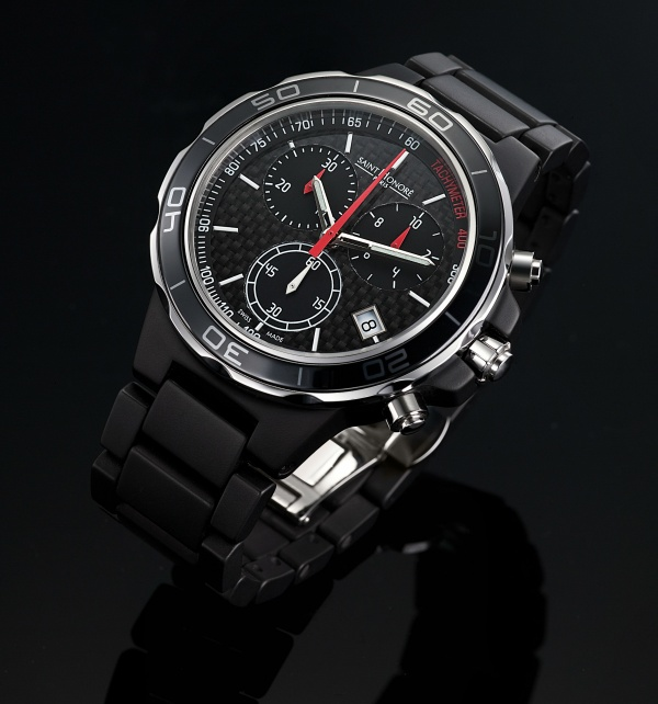 Saint Honore Worldcode Black Ceramic Watch