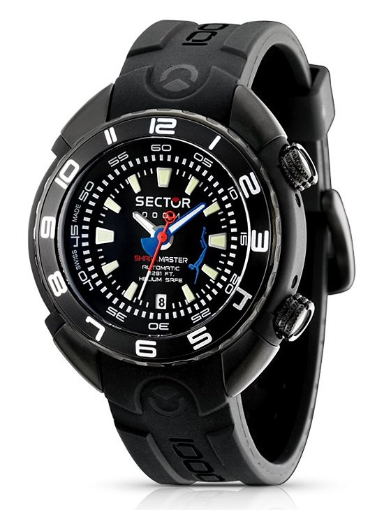 Sector marine shark master 1000m watch watch review for Marine watches