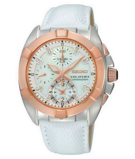 Seiko Velatura Ladies' Chronograph Watch SNDY66P1