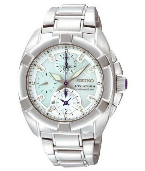 Seiko Velatura Ladies' Chronograph Watch SNDZ19P1