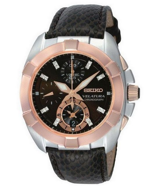 Seiko Velatura Ladies' Chronograph Watch SNDZ20P1