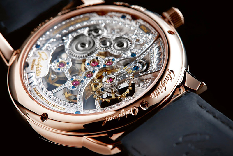 Glashütte Original Quintessentials Senator Manual Winding Skeletonized Edition Watch Back