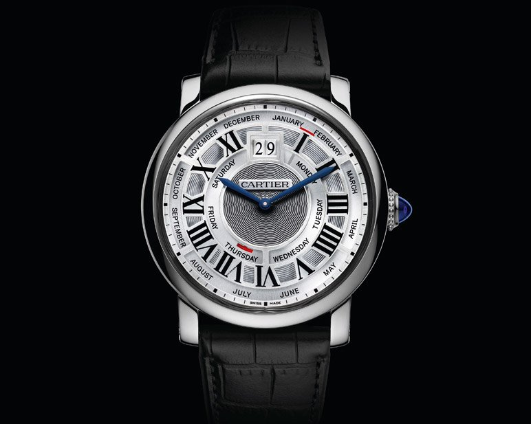 Rotonde De Cartier Annual Calendar White Gold Watch