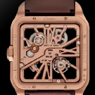 Cartier Santos Dumont Red Gold Watch Back