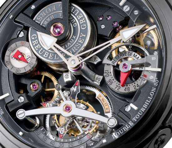 Greubel Forsey Double Tourbillon Technique Black Watch Dial