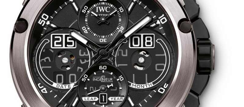 IWC Ingenieur Perpetual Calendar Digital Date Month Watch