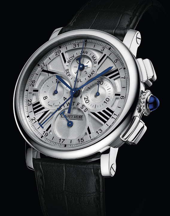Cartier Rotonde Perpetual Calendar Chronograph White Gold Watch