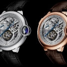 Cartier Ballon Bleu Tourbillon Rose Gold And White Gold Watches