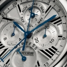 Cartier Rotonde Perpetual Calendar Chronograph White Gold Watch Detail