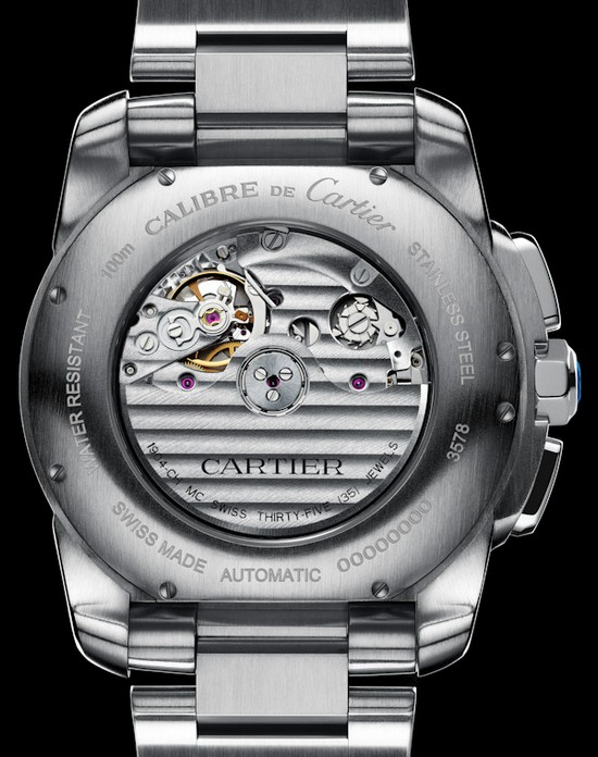 Cartier Calibre Chronograph Watch Case Back