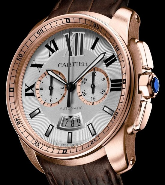 Cartier Calibre Chronograph Watch Rose Gold