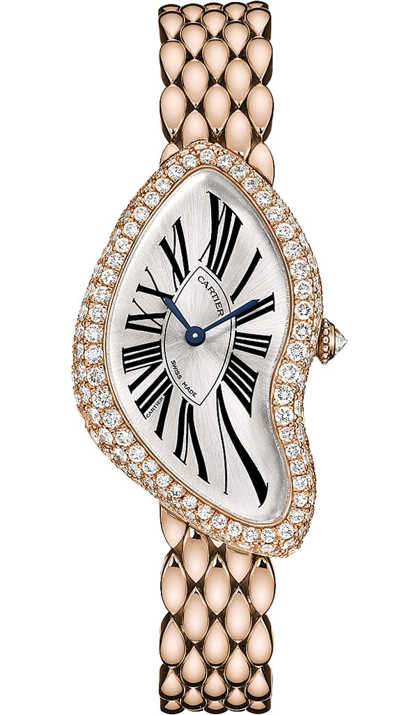 Cartier Crash Diamond Pink Gold Watch