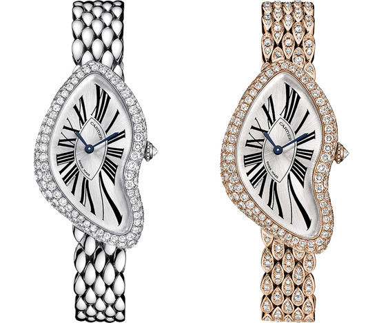 Cartier Crash Diamond Set Ladies' Watches