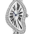 Cartier Crash Diamond White Gold Watch Gem Set Bracelet