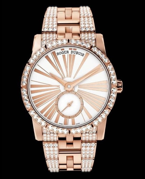 Roger Dubuis Excalibur 36 Pink Gold Watch Front