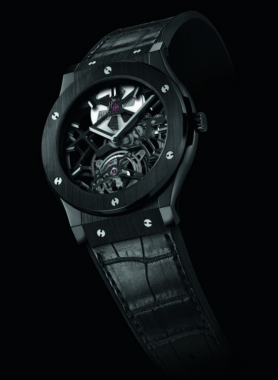 Hublot Classic Fusion Skeleton Tourbillon Black Ceramic Watch