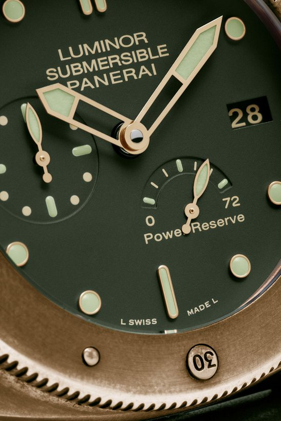 Panerai PAM 508 Luminor Submersable Bronze Watch Dial