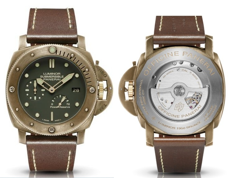 Panerai PAM 508 Luminor Submersable Bronze Watch