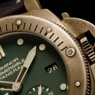Panerai PAM 508 Luminor Submersable Bronze Watch Detail