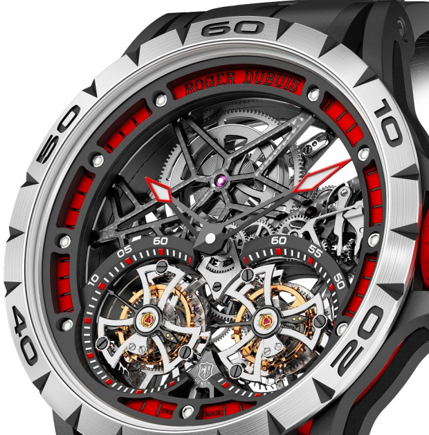 Roger Dubuis Excalibur Spider Double Flying Tourbillon Watch Dial