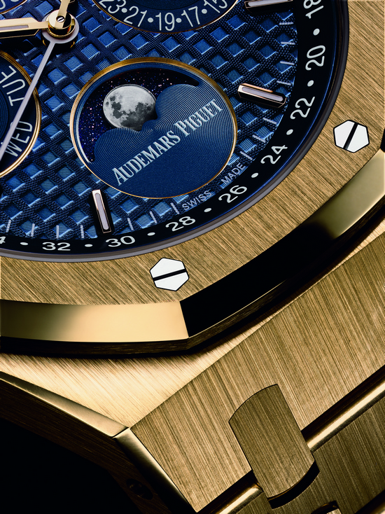 Audemars Piguet Royal Oak Perpetual Calendar Yellow Gold Watch Detail