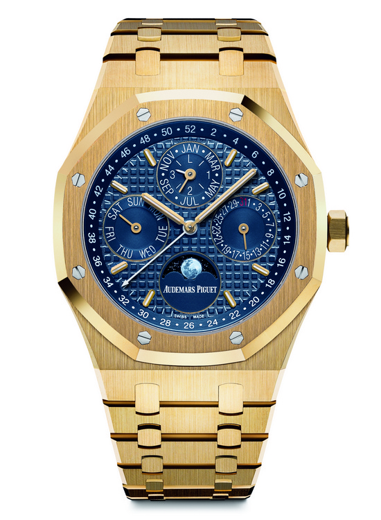 Audemars Piguet Royal Oak Perpetual Calendar Yellow Gold Watch Front