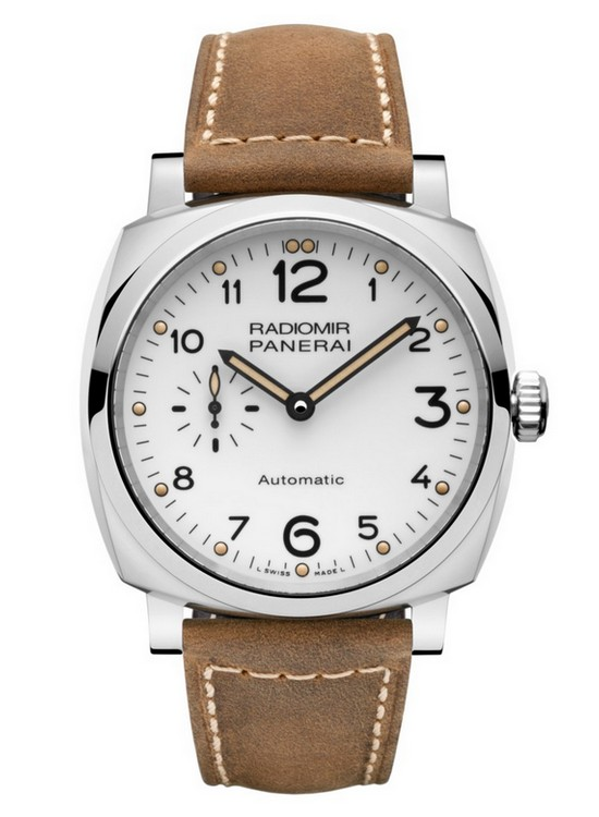 Panerai Radiomir 1940 3 Days Automatic Accacio 42 mm White Dial Watch PAM006655 Front
